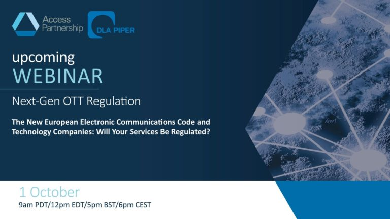 Webinar Recording | The New European Electronic Communications Code: Will Your Services Be Regulated?