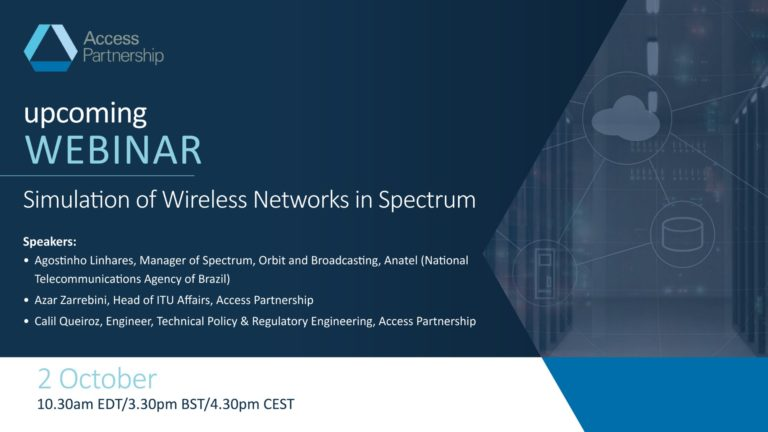 Upcoming Webinar | Simulation of Wireless Networks in Spectrum Engineering and Regulation