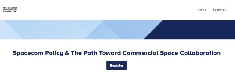 Upcoming Webinar: Spacecom Policy & the Path Toward Commercial Space Collaboration